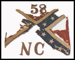 58th NC Infantry battle flag