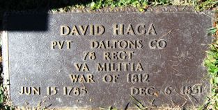 david m haga war of 1812