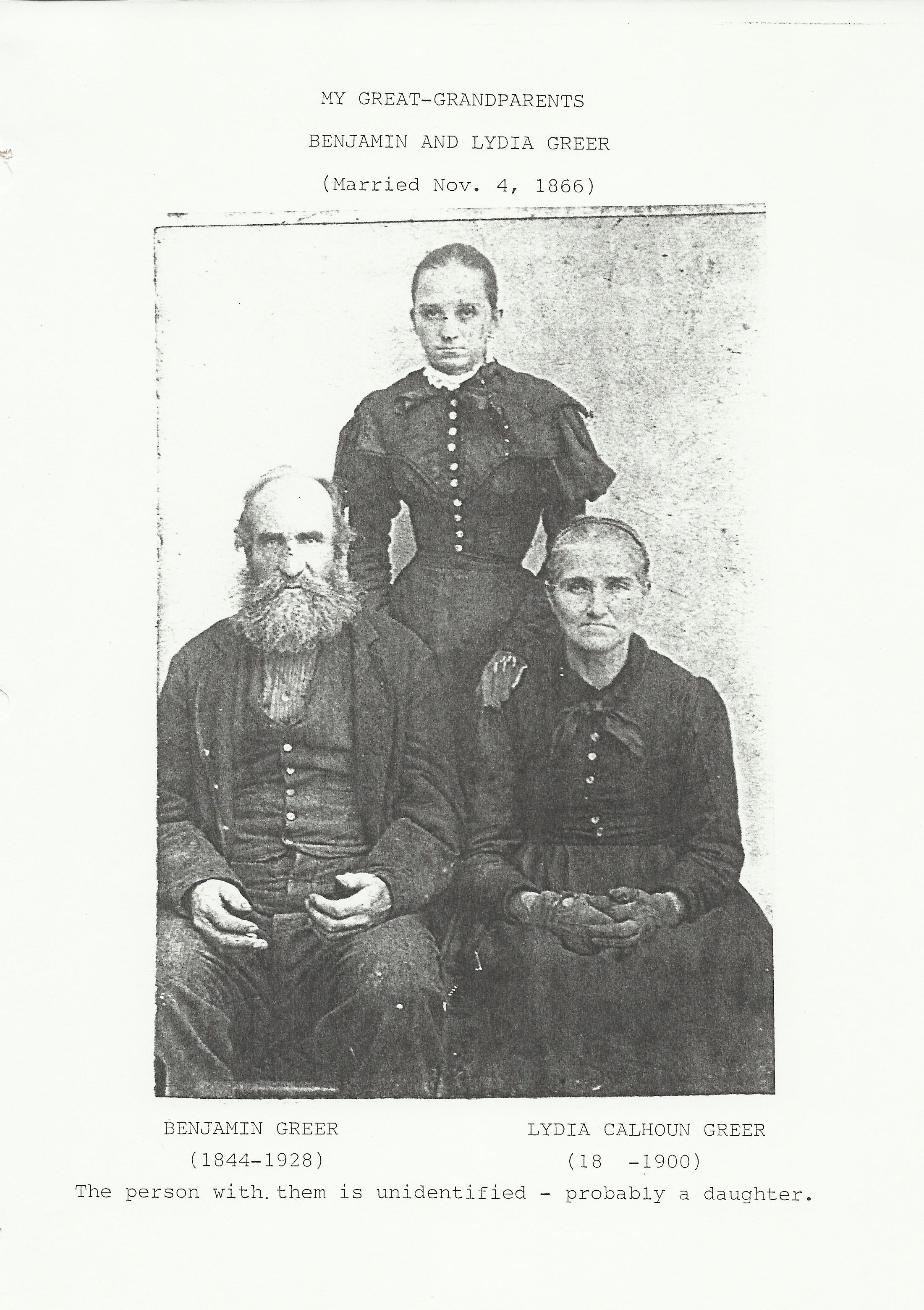 benjamin greer family