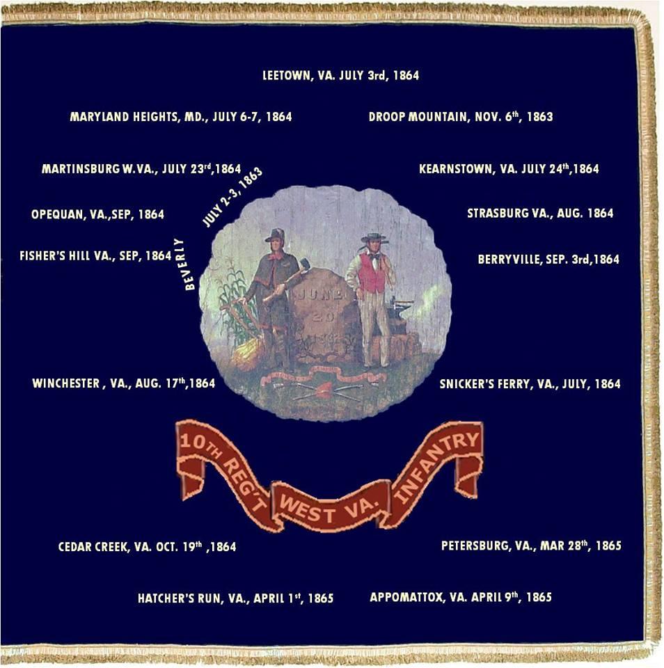 Battle flag of the 10th WV Infantry
